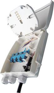 Boîtiers FTTx 8 ports pour traversées de cloison SC simplex / LC duplex